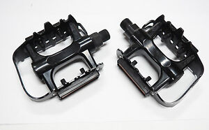 Bicycle-Pedals-Alloy-Cage-9-16-034-Axle-BMX-MTB-City-or-Road-Bike-FREE-POST