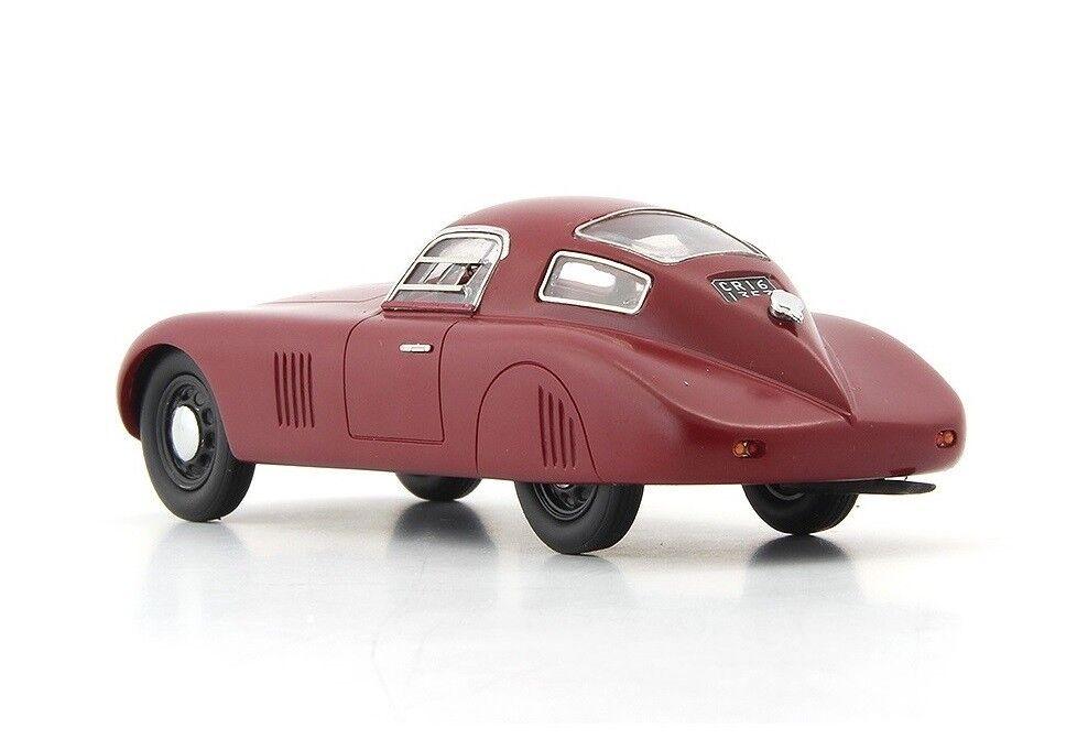 Fiat 1500 Barchetta Compressor  Dark Dark Dark Red  1943 (Autocult 1 43   AC04013) c35aba