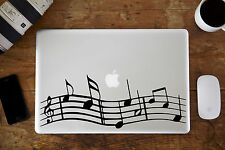 """Musical Notes Decal Sticker for Apple MacBook Air/Pro Laptop 11"""" 12"""" 13"""""""