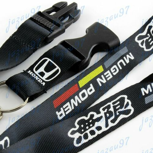JDM Mugen Black Keychain Lanyard Quick Release Key chain Strap for Honda Accord