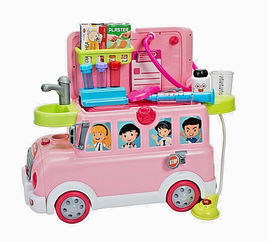 27 pcs Kids Medical Role Play Pretend Doctor Nurses' Toy SET 3 in 1 Scooter Bus