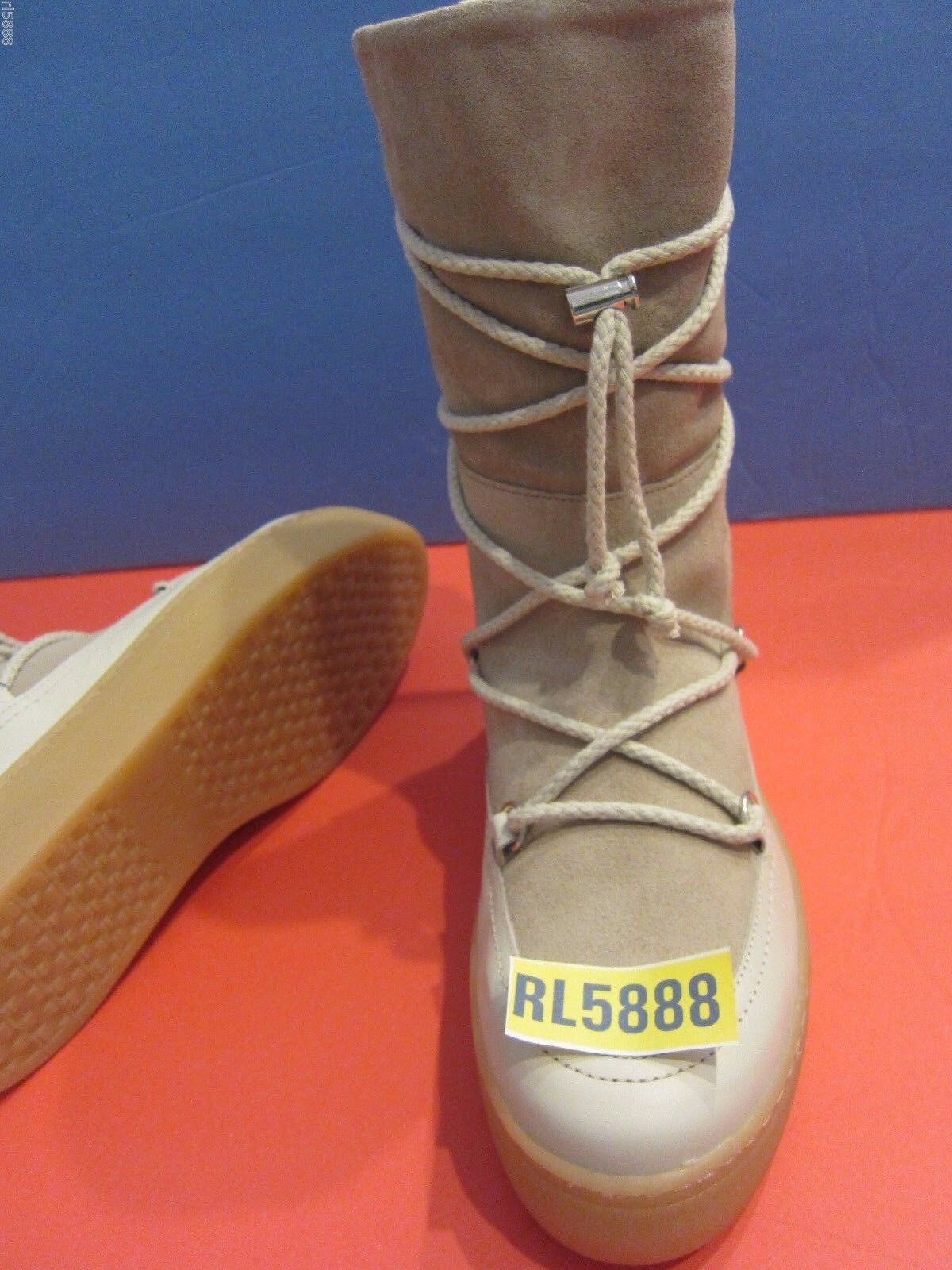 NEW ZARA Split Suede Lace-Up Stivali Shoes Taupe   6.5 EU 37 Bloggers Fave  159.9