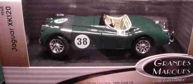 1948 jaguar - grün 1,18 ertl amerikanische power 33629