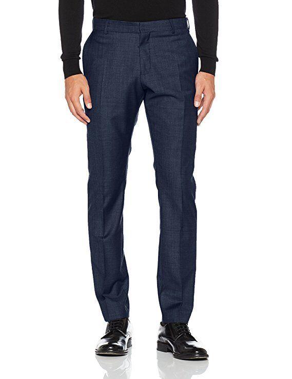 Selected Men's Suit Trousers  in dark bluee uk sz 34 waist 34 leg new