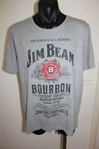 Jim-Beam-Bourbon-Men-039-s-Grey-T-Shirt-Size-Large
