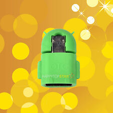Green Micro USB 2.0 Host Male to USB Female OTG Adapter Android Tablet Phone U
