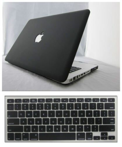 "Rubberized Hard Case Cover for Macbook Pro 12/""13//15/""Air 11//13/""+Silicone Keyboard"