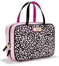 NWT Victorias Secret Pink Leopard Cosmetic Makeup Hanging Travel bag Case Tote