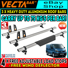 Renault Trafic Roof Bars x4 Rack and Ladder Roller 2001-2014 SWB-LWB LOW-H1 Barn