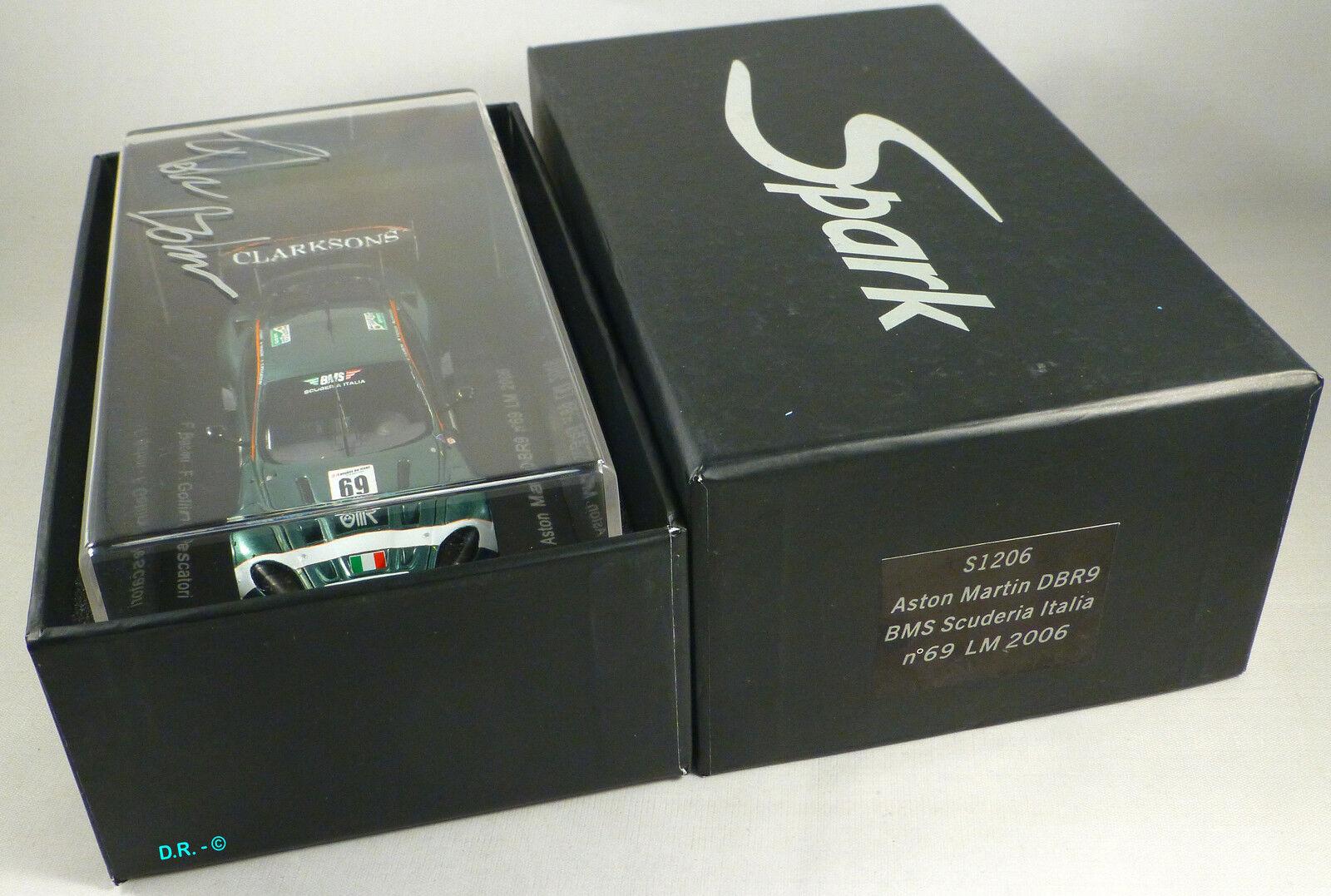 ASTON MARTIN DBR9 GT1  69 Babini signed box BMS SCUDERIA LE MANS 2006 SPARK 1 43