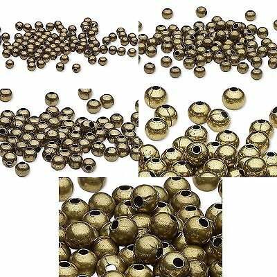 Metal Spacer Beads Antique Plated Brass Metal Smooth Oval Rice Ripple for Jewelry Craft Making