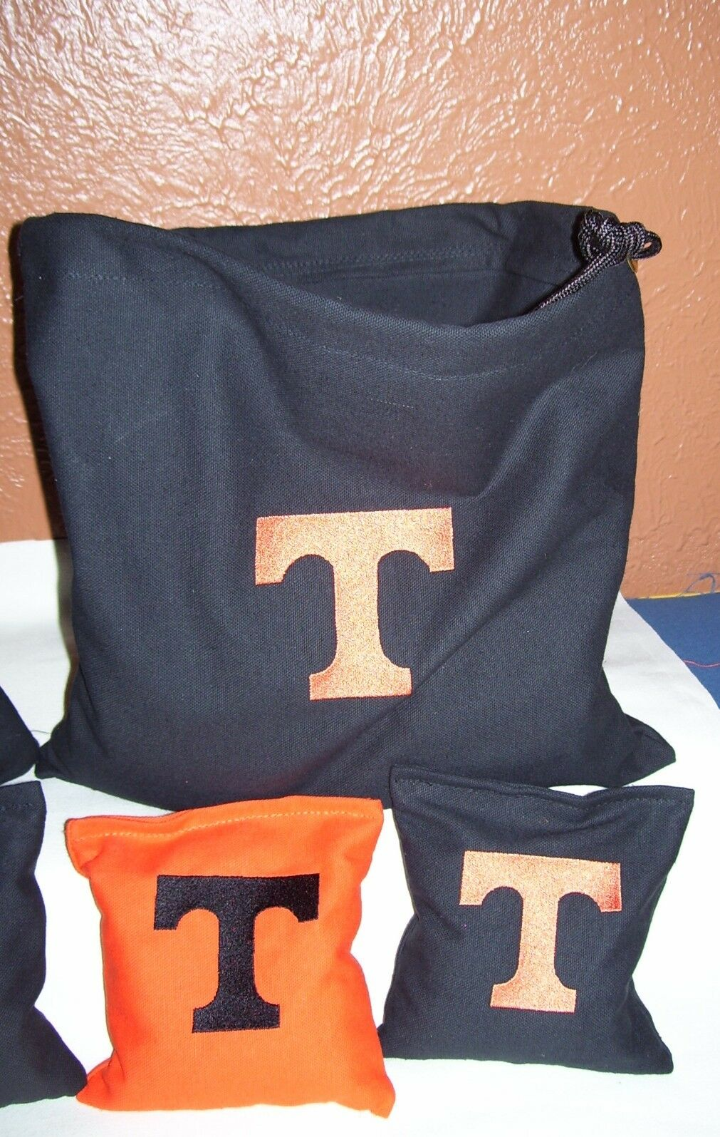 Tennessee T  Embroidered Cornhole Corn Hole set of 8 Bags with Storage Bag  the lowest price