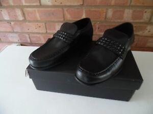 36d04200547d Mens Schuh Argent Stud Black Leather Shoes Loafers Slip Ons Size 8 ...