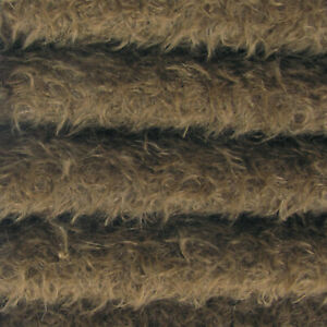 """1//4 yd 325S//CM Antq Honey INTERCAL 5//8/"""" Semi-Sparse Curly Matted Mohair Fabric"""