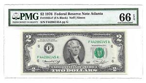 2003A $2 Federal Reserve Note Cleveland PMG 66 EPQ Gem Uncirculated