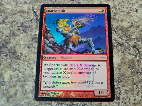 1x Foil Sparksmith Magic the Gathering MTG DCI Promo
