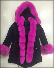 Parka Jacke Fashion Blogger XXL Kapuze Winter Echt FUCHS Fell Pelz Mantel