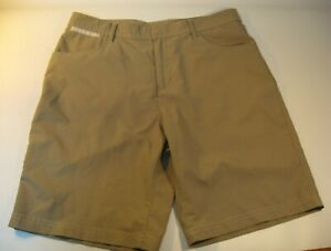 ac96dcc9138 Image is loading Adidas-Golf-Shorts-Men-039-s-Khaki-Brown-