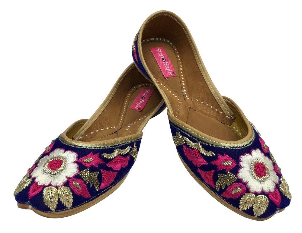 6 To Etats-unis 10 Indian Bohemian Bridal Khussa Shoes Jutti Indian Ethnic Jutti Dd976