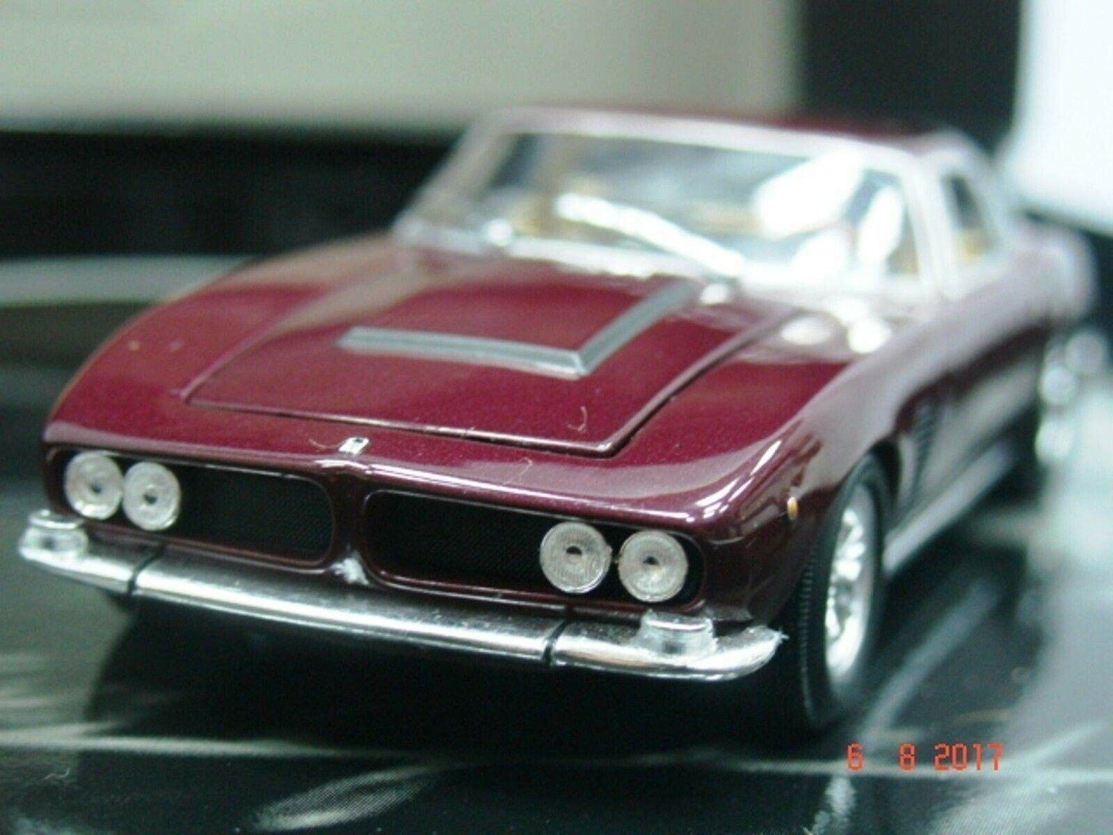 Wow extremadonnate raro Iso Grifo 7.0 16V 406HP 1968 rosso Met 1 43 Minichamps-Gitf Caja