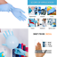 50X-Latex-GLOVES-Resistant-Disposable-Glove-Rubber-Gant-dental-medical-50pcs-10x miniature 1