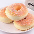 1X Jumbo-Squishy Bagels Bread Breadcrumb Scented Food Simulation   Toys 10CM MW