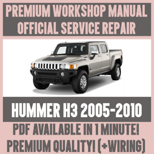 details about >workshop manual service & repair guide for hummer h3 2005-2010  +wiring