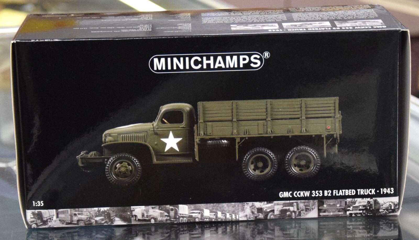 Minichamps 1 35 1943 GMC CCKW 353 B2 Caja Militar Cabrestante camión de carga