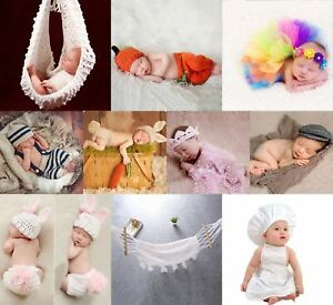 Image is loading Newborn-Baby-Girls-Boys-Crochet-Knit-Costume-Photography-  sc 1 st  eBay : baby peach costume  - Germanpascual.Com