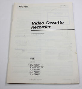 ORIGINAL OWNERS MANUAL for the SONY SLV 720HF 721HF 730HF 731HF VCR VHS RECORDER