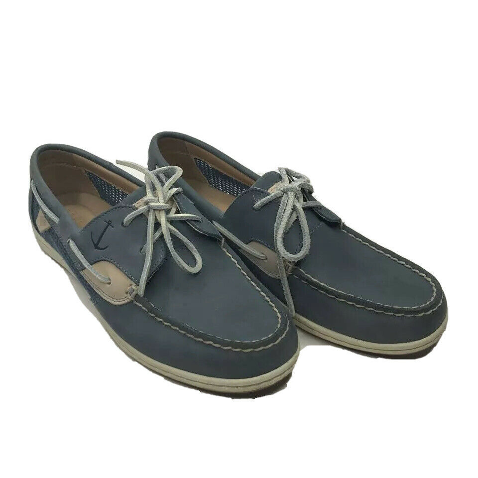 Sperry Top-Sider Womens Boat Shoes Multicolor Navy Leather Moc Toe 8.5