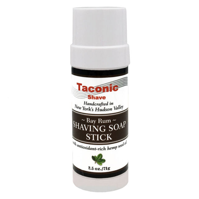 Bay Rum Handcrafted Shaving Soap Stick by Taconic Shave - Made in USA - 2.5 oz.