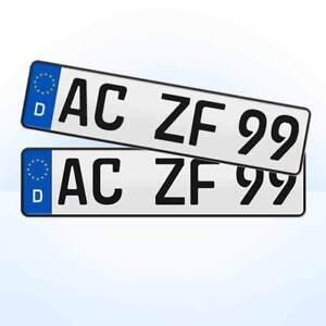 2 Stück EU Kfz-Kennzeichen + 460 x 110 mm + Nummernschilder #3