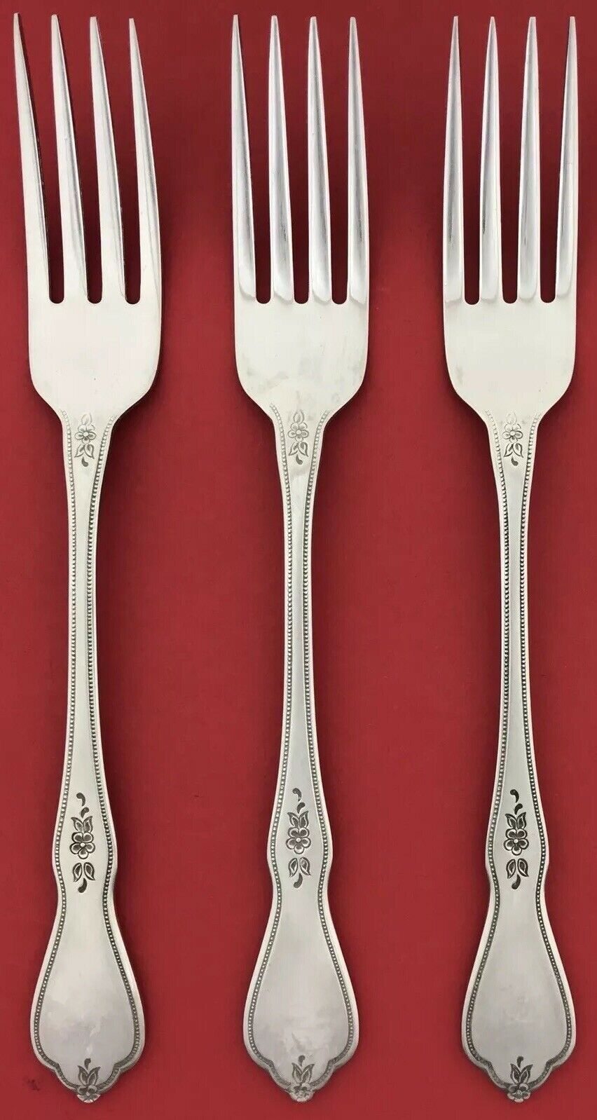 Set of 3 Dinner Forks Oneida MORNING BLOSSOM Profile Stainless 7 1 4