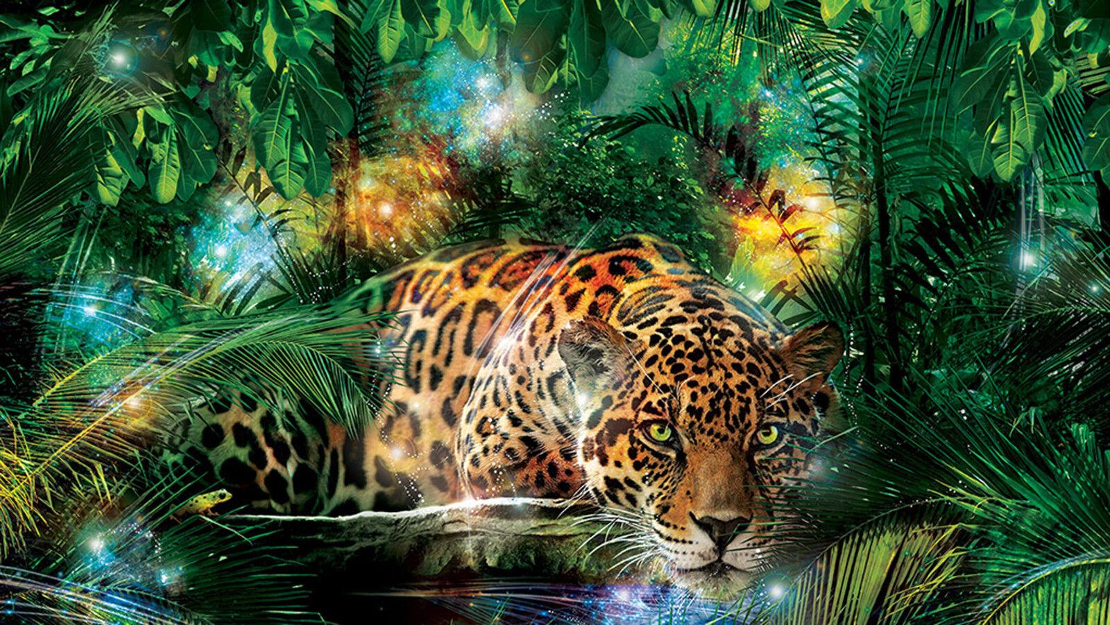 VLIES Fototapete-LEOPARD-(1333)-Raub-Tier Katze Jaguar Panther Dschungel Savanne