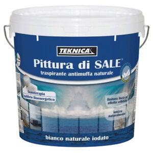 PITTURA-DI-SALE-murale-traspirante-antimuffa-12-Lt-IN-OMAGGIO-LAMPADA-DI-SALE