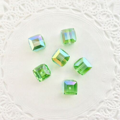 AB Colors and Coatings  10 PC TRAY Genuine Swarovski® 8mm Crystal Cubes #5601