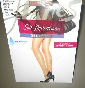 Hanes Nylons Panyhose Silk Reflections Silky Sheer Toe Control Top Style 717 NEW