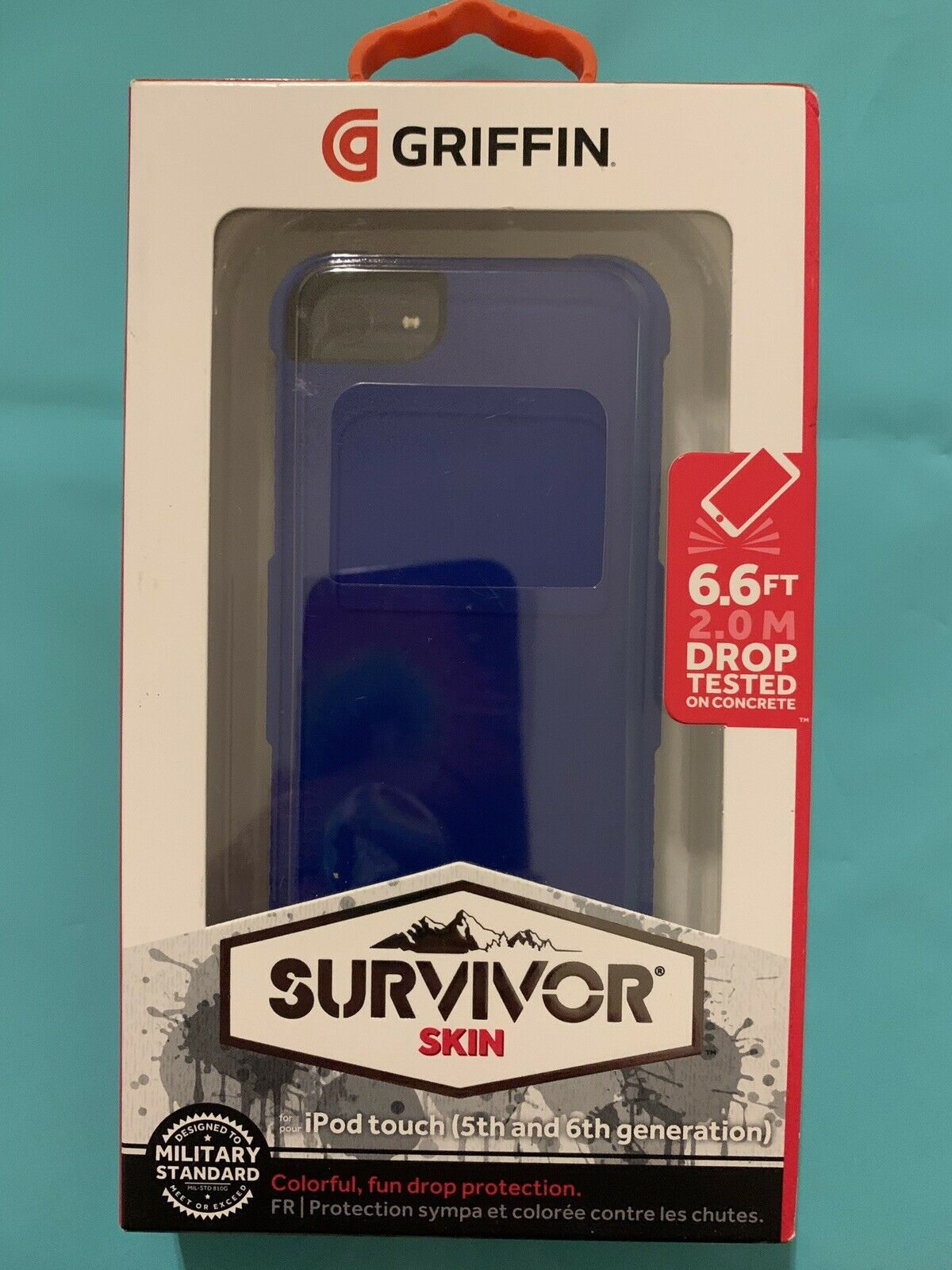 🔥Griffin Survivor Skin iPod Touch Case(5th, 6th, & 7th Generation)—Bright Blue
