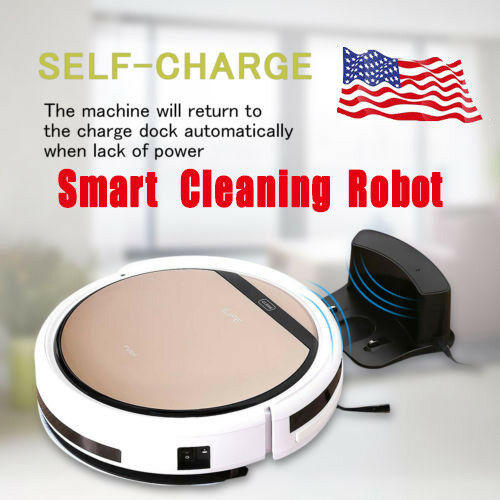 ILIFE V5S Pro Smart Robotic Vacuum Cleaner Auto Sweeper Edge Cleaning Silent USA