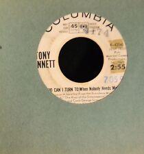 RED VINYL Tony Bennett Columbia DJ43141 Who Can I Turn Both Sides