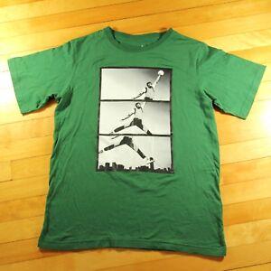 afc230f4c2e Michael Jordan Retro Style Tee Shirt Junior's XL Green Slam Dunk ...