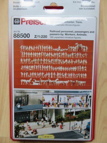 Preiser 88500; 160 unbemalte personaggi 1:220