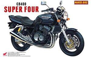 Aoshima-1-12-BIKE-Honda-CB400-Super-Four-Black-Plastic-Model-from-Japan-Kit