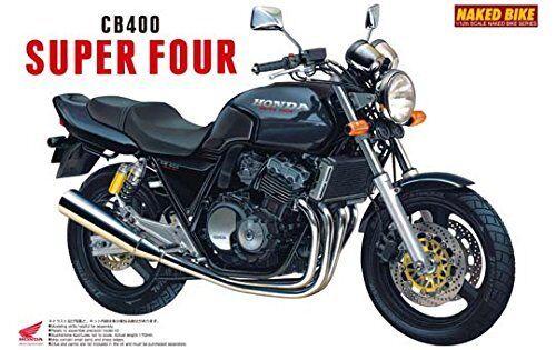 Aoshima 1/12 BIKE Honda CB400 Super Four (Black) Plastic Model from Japan Kit