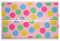 1.5 EASTER BRIGHT PASTEL MULTI GUMBALL JUMBO DOTS GROSGRAIN RIBBON 4 HAIRBOW