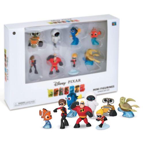 Neu Pixar 8 Mini Figur Packung Geschenk Set Figuren Wall-E Nemo Disney Offiziell