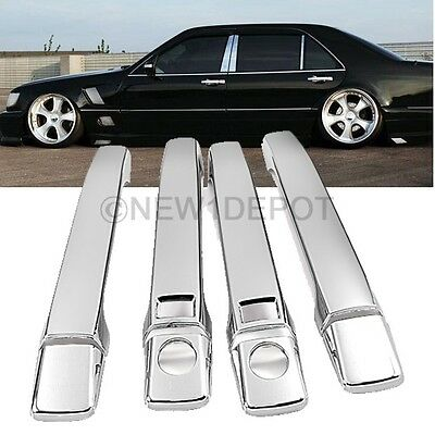 Triple Chrome Plated Side Door Handle Cover For Mercedes W140 S-Class 91-99 ND