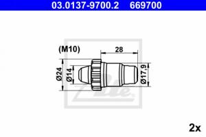 Automatische Nachstellung Hinterachse ATE 03.0137-9700.2 Reparatursatz