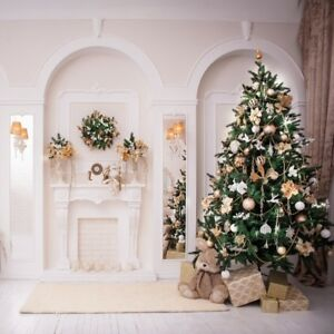 8x8ft Gorgeous Christmas Tree Background Home Decor Photo Backdrop